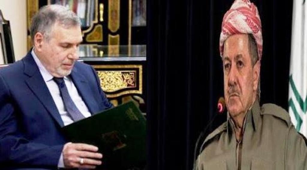 الكشف عن مضمون إتصال بين البارزاني وعلاوي