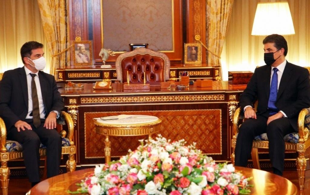 نيجيرفان بارزاني والقنصل الألماني يبحثان الانتخابات المبكرة وحل الملفات العالقة بين بغداد وأربيل