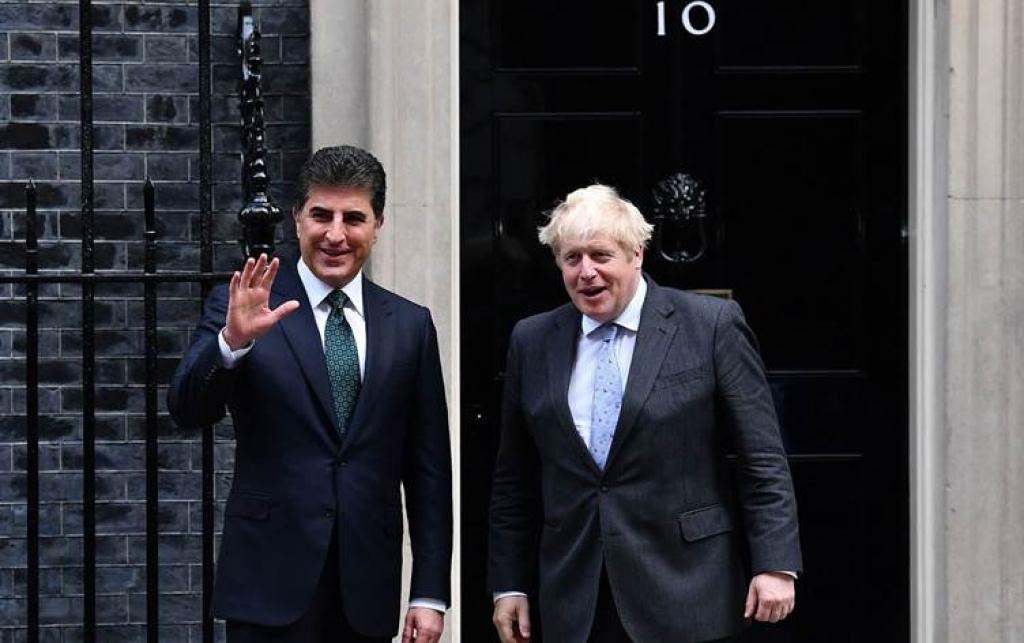 نيجيرفان بارزاني يكشف مضمون اجتماعه مع رئيس الوزراء البريطاني