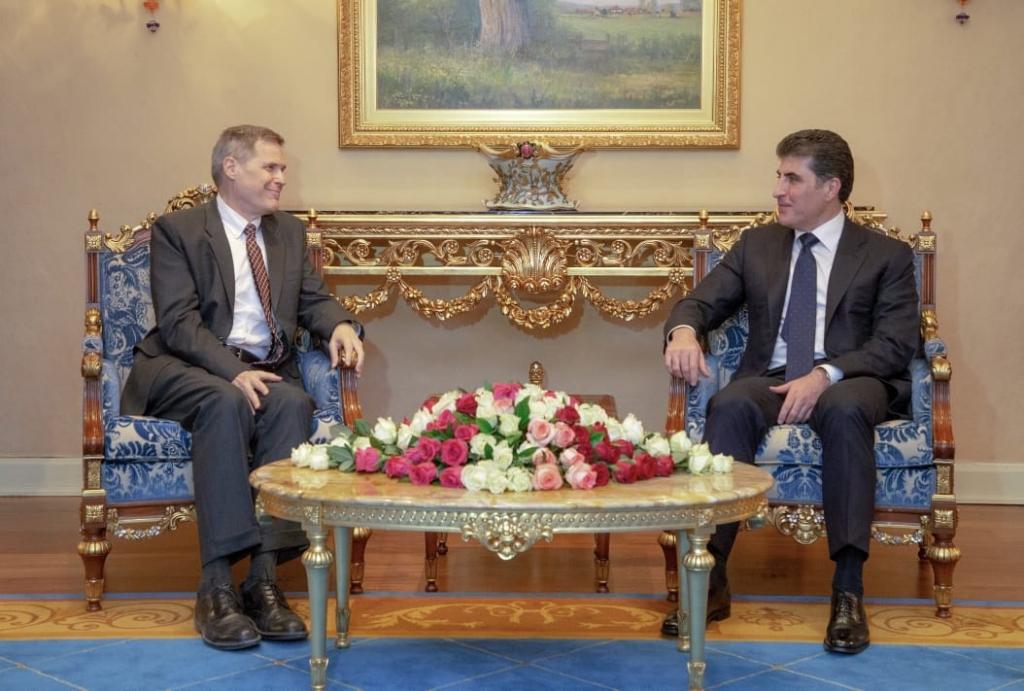 رئيس إقليم كوردستان يبحث مع السفير الأمريكي الجديد قضايا مهمة