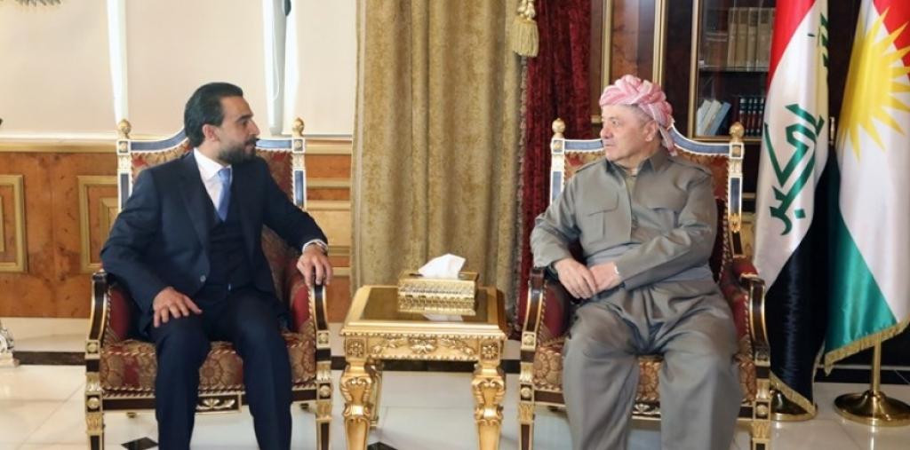 بارزاني والحلبوسي يبحثان الوضع العراقي .. اتفاق على 6 نقاط في بيان مشترك