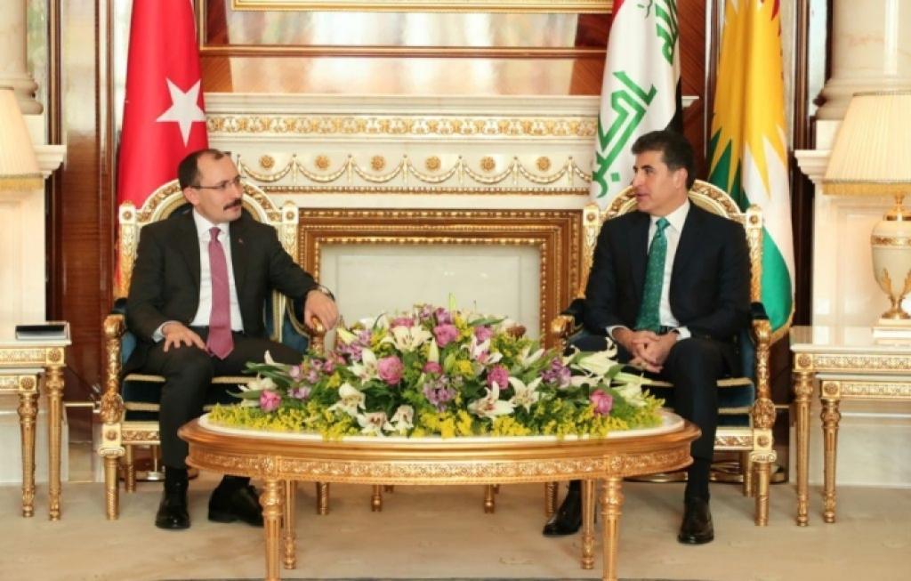نيجيرفان بارزاني: طريق التجارة التركية إلى السوق العراقي يمر عبر إقليم كوردستان