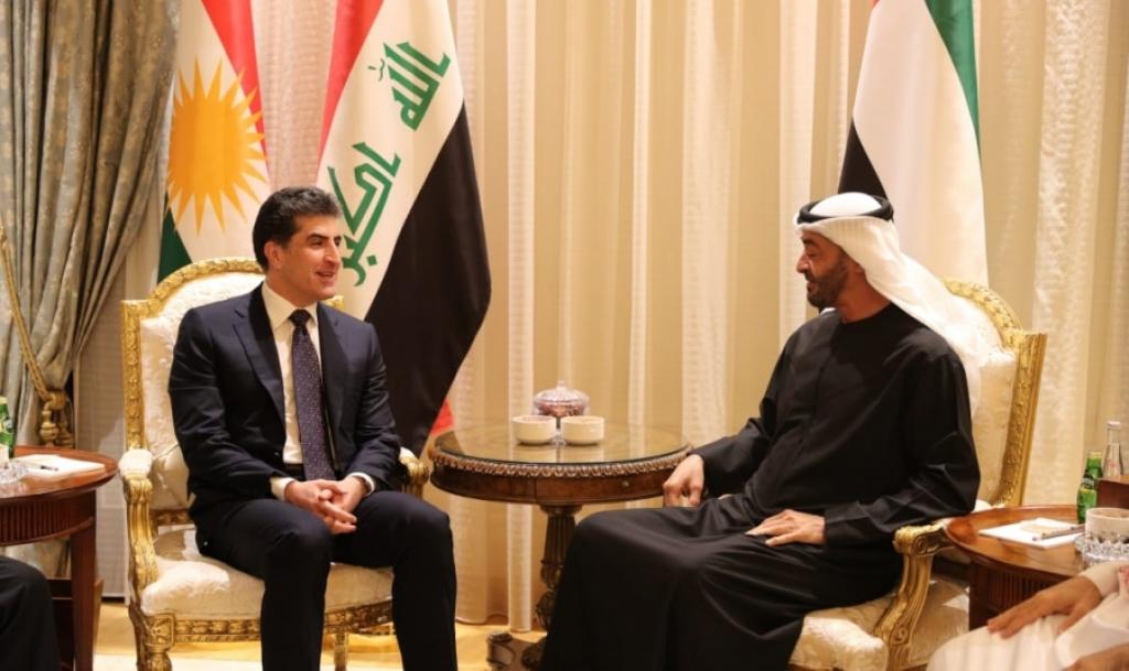 نيجيرفان البارزاني وولي عهد أبوظبي يبحثان فرص العمل والاستثمار في إقليم كوردستان والعراق