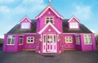 امرأة تُحوّل منزلها إلى مكانٍ خيالي باللون الوردي.. وتستقطب المشاهير
