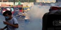 ثالث جسر وسط بغداد في قبضة المحتجين .. ضمن محاولاتهم للوصول للخضراء